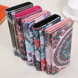 Long Wallet Graffiti Printed Women and Girls Vintage Mini Clutch Phone Card holder Money slot Multi-Color Casual Ladies Purse - zavitoro