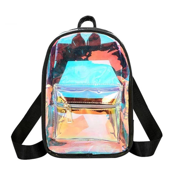 Laser Backpack Mini Travel Bags Silver Laser Backpack Women Girls Shoulder Bag  2019 Women Holographic Backpack - zavitoro