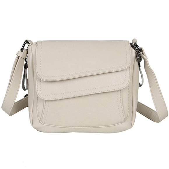 Messenger Bags White Summer messenger handbag genuine soft Leather Luxury Handbags Women Bags Designer Female Shoulder Bag Mother Bags For Women 2019 - zavitoro