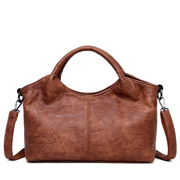 Mini tote bag Satchel Vintage Soft cowhide genuine Leather retro design Handbags for Women 2019 New Shoulder Crossbody Bags Ladies Casual Small Hand Bags Mini Totes - zavitoro