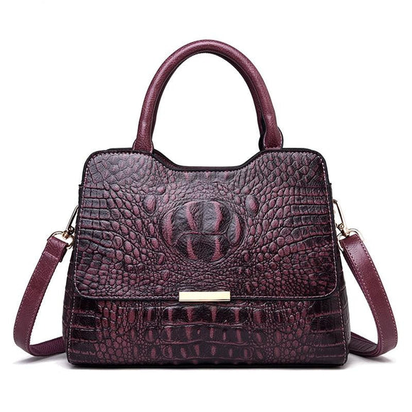 Crocodile Pattern Genuine Leather Handbags Women 2019 New Luxury Crossbody Shoulder Bag Designer Bags - zavitoro.myshopify.com