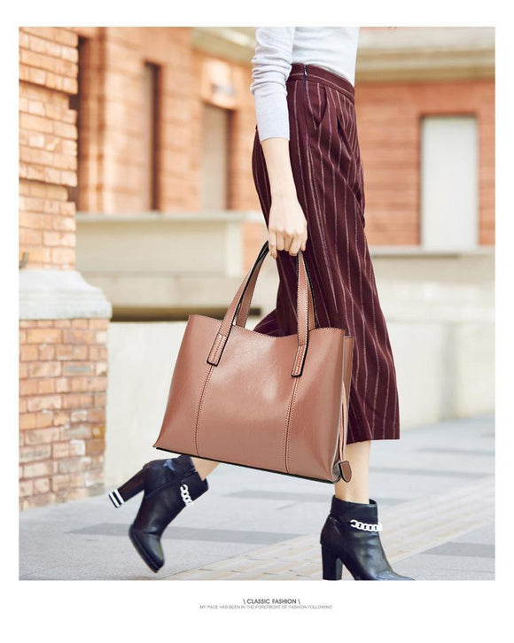 Business Large Tote Bags Hobo Soft Genuine Leather Ladies Crossbody Messenger shoulder Bag for Women - zavitoro.myshopify.com