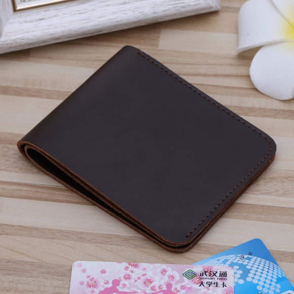 Wallet for Men Women Fashion Genuine first layer cowhide real leather Men's Leather Slim Credit Card Holder Clutch Coin Purse Wallet Pockets 4 Cards Holder+1 Cash Pocket - zavitoro