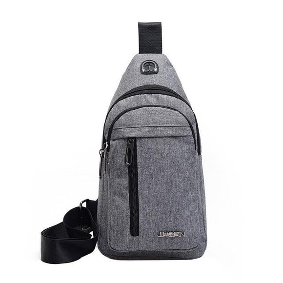 Canvas wild messenger Chest Bag one shoulder plaid for men - zavitoro.myshopify.com