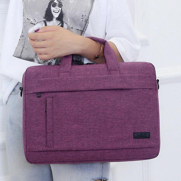 Business Laptop Bag made of Canvas for business professionals universal Travel Portable Briefcase Tote Shoulder Bag 3 Size - zavitoro.myshopify.com