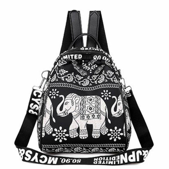 Anti-theft Embroidery ethnic style women's backpack animal print school bag detachable shoulder strap shoulder bag - zavitoro.myshopify.com