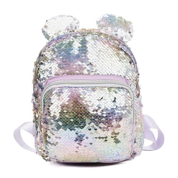 Kids Backpack sequin decorated Gils Baby Nina Women Fashion Sequin Bag pack with Cute Small Ear Shoulder Bags Girls Travel Large Capacity Bags Party Mini School Bags - zavitoro.myshopify.com