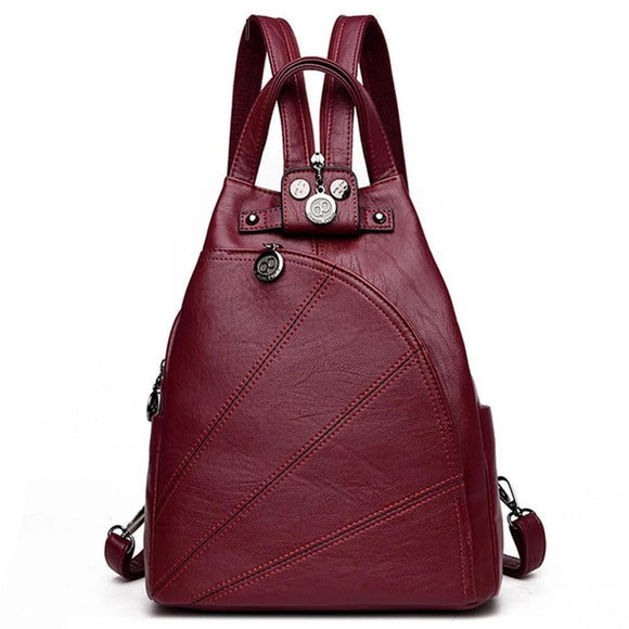 Backpack Women soft genuine leather Female Travel Ladies Bagpack School Bags For Girls preppy Style - zavitoro.myshopify.com