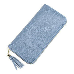 Women Long Wallets Crocodile design higg grade Brand Design premium Quality Leather Wallet Female Hasp Fashion Dollar Price Alligator Long Women Wallets And Purses - zavitoro