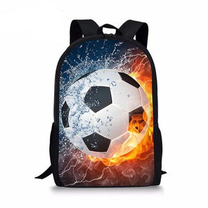 Kids Backpack Girls Men Women glorious Soccer sports football Printing and custom printing 3/2/1 pc combo School Bag Set Primary Schoolbag - zavitoro