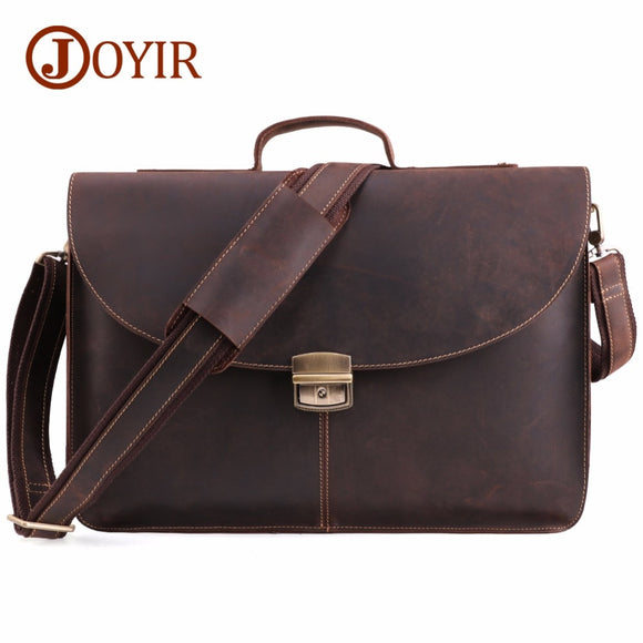 Crazy Horse Genuine Leather  high quality 15 inch laptop Briefcase