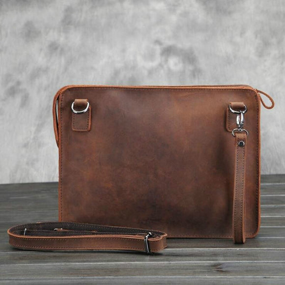 Clutch Bags Men Vintage Business ipad work bag - zavitoro