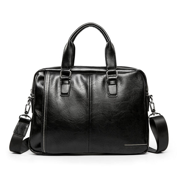 Busines formal laptop bag 15 Inch mele briefcase genuine leather large capacity