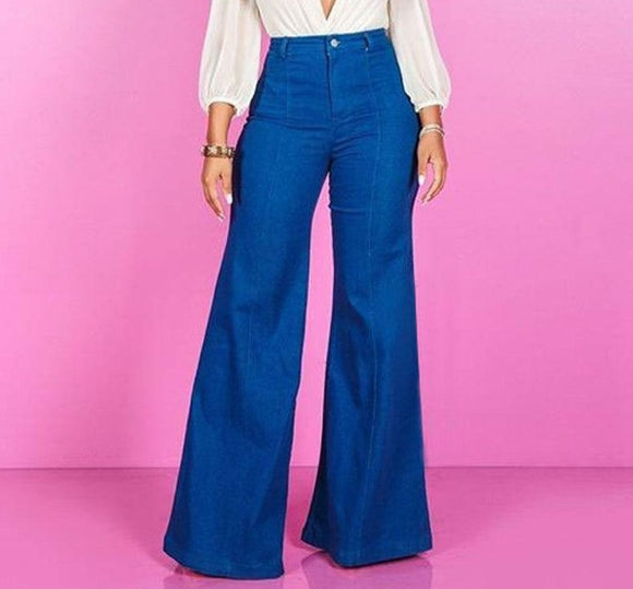 Retro Bell-Bottoms Fashion Denim Flare Jeans - zavitoro