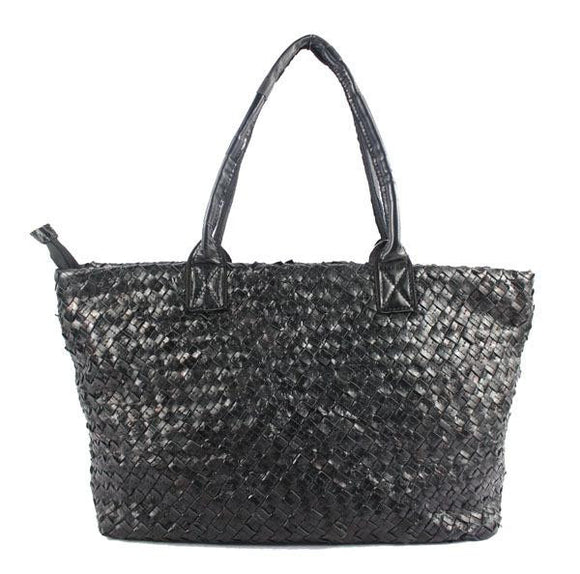 Handmade Tote bag high quality cowhide multi color Patchwork handbag for spring and summer new original single weaving knitted ladies hand shoulder diagonal package 100% genuine leather handbag - zavitoro.myshopify.com