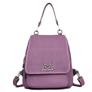 Backpack for Teenage Girls High Quality Leather Women Solid Fashion Designer Female School Shoulder Bag - zavitoro.myshopify.com