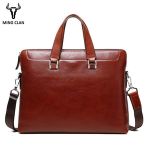 Brown briefcase laotop bag supreme quality Full Grain genuine cowhide leather