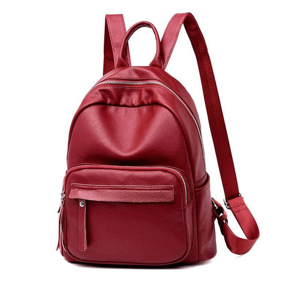 Women Backpack High Quality Genuine Leather for Ladies Large Capacity School Travel Bags new Arrived 2018 Women Big Backpack Designer - zavitoro