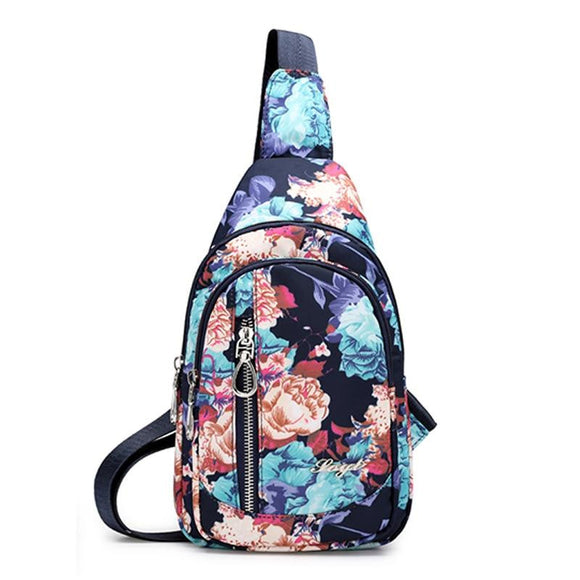 High Quality Waterproof Nlylon Floral Pattern Women Chest Bag  Cross Body Bag Casual National Sling Messenger Bag Female - zavitoro.myshopify.com