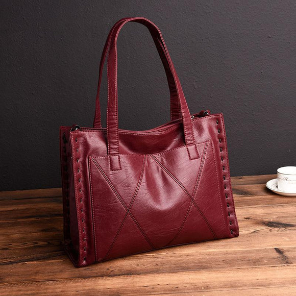 Tote bag small sized High Quality Genuine Leather Tote bag Women's Handbags Fashion Big Size Women Tote Bags Women Messenger Bags Ladies Shoulder Bag - zavitoro
