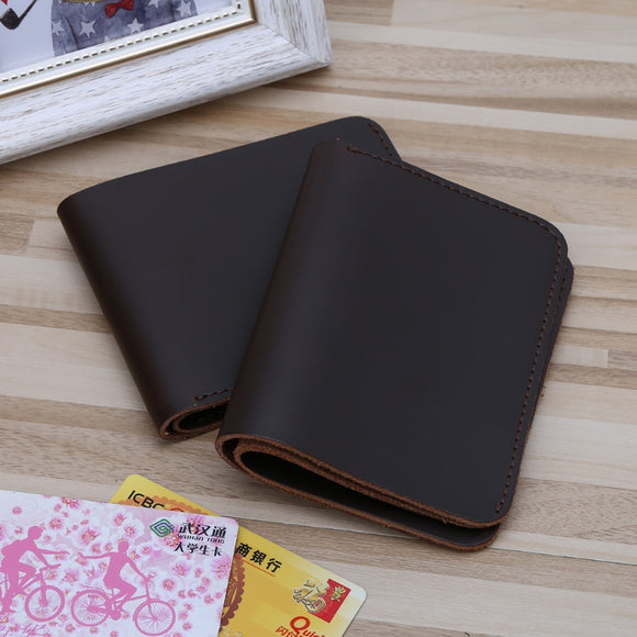 Men Wallets dark vintage style oil pullup Fashion Men's Leather Slim Mini Credit Card Holder Clutch Bifold Coin Purse Wallet Pockets Hot New - zavitoro