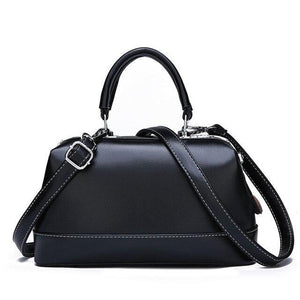 Ladies Portable satchel box shaped Shoulder Bag Office business use Boston Bag high quality genuine - zavitoro