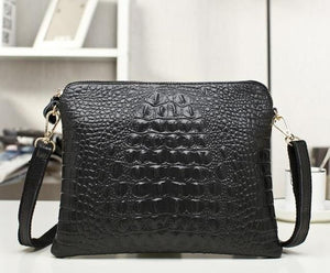 Clutch bag Crocodile Pattern Shoulder Bags Evening Party Messenger Bags Genuine Leather Women Giris Vintage - zavitoro.myshopify.com