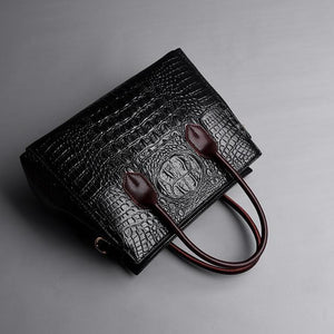 Crocodile pattern Ladies Satchel Alligator high quality Genuine Leather Bag Women Designer Crossbody Bags for Women Tote Handbags - zavitoro.myshopify.com