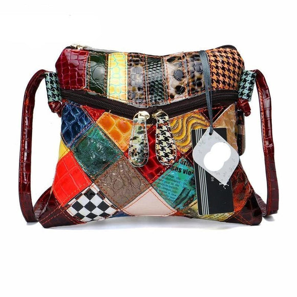 Messenger bag Colorful Shoulder Bags For Women Patchwork Small Flap Bags Design Crossbody Feminina Bright Color - zavitoro