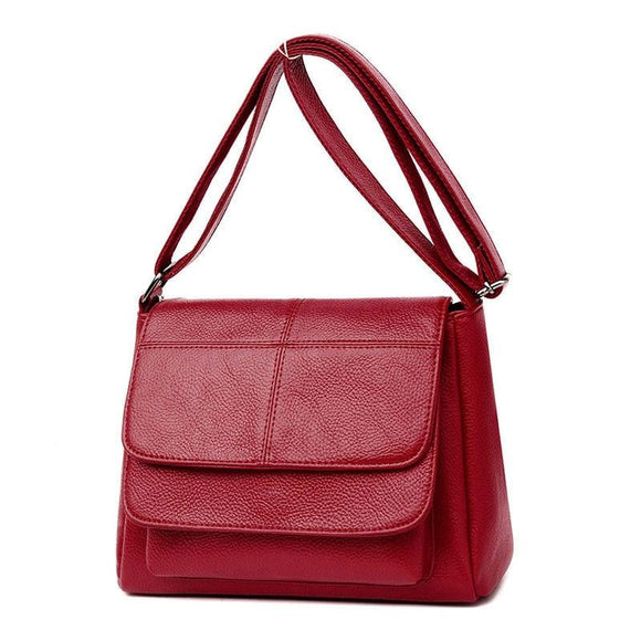 Satchel Handbag Women messenger Soft Leather Luxury Women Bags Designer Casual Multi-pocket Shoulder Crossbody Bags Ladies - zavitoro