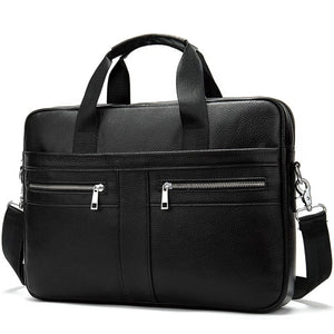Business Bag men's Genuine Leather briefcase Male man laptop bag natural Leather for men Messenger bags men's briefcases 2019 - zavitoro.myshopify.com