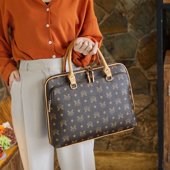 Business Briefcase Bag Woman Leather Laptop 14 Inch Handbag Work Office Bag Ladies 2019 Crossbody Bags For Women Handbags - zavitoro.myshopify.com