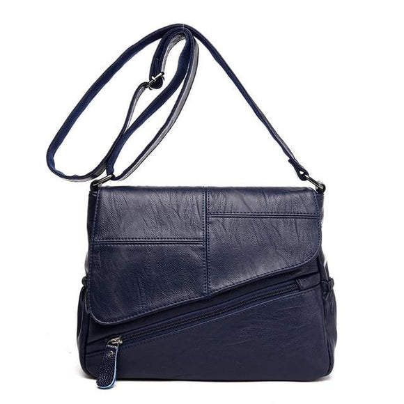 Sling Messenger bag Soft genuine Leather Luxury Handbags Women Bags New Female leather clutch Bags Designer 2019 Ladies Shoulder Bag - zavitoro.myshopify.com