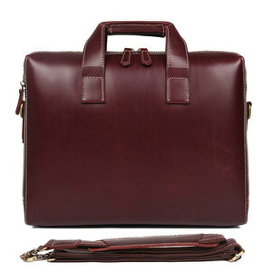 Fashion Business Briefcase 15 Inch veg tanned genuine leather Computer Bag