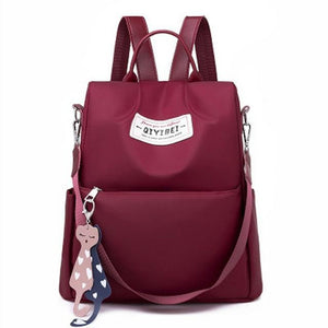 Anti-theft female girls backpack Oxford cloth fashion large capacity travel backpack multi-function laptop school bag - zavitoro.myshopify.com