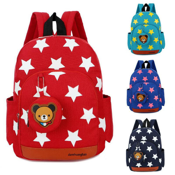 Baby child boy girl star design universal bag cute cartoon star pattern zipper School Bags - zavitoro