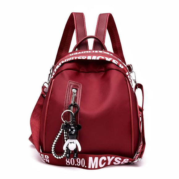 Oxford cloth college backpack solid color for Women's and Girl's wind school bag travel trend shoulder bag - zavitoro.myshopify.com