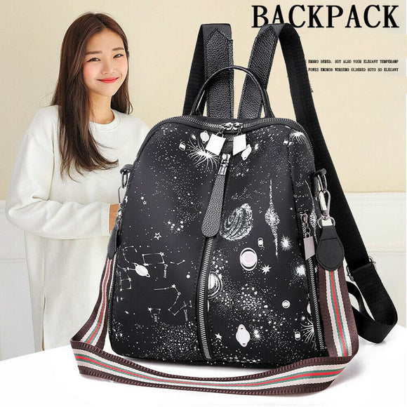women's backpack star print canta backpack shoulder bag - zavitoro