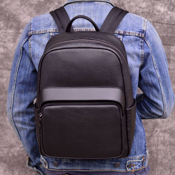 Backpack Men Women bag Offcie Business school college backpacks Outdoor leisure men's backpack leather shoulder bag first layer leather travel computer bag - zavitoro.myshopify.com