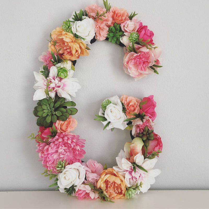 floral letter flower letter boho nursery boho bridal shower boho baby shower girl name sign