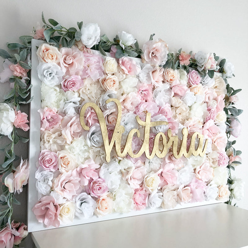 shabby chic nursery decor flower wall decor flower wall name sign baby girl name sign