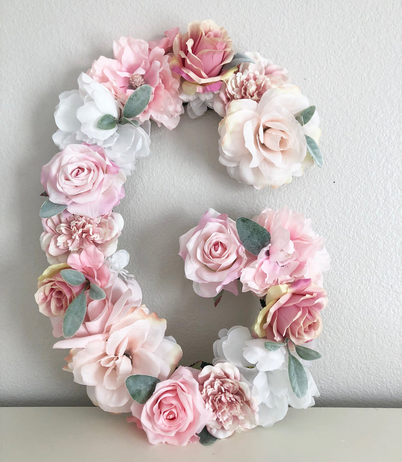 blush and mauve nursery decor flower letter floral letter boho decor bridal shower decor baby shower decor floral shower