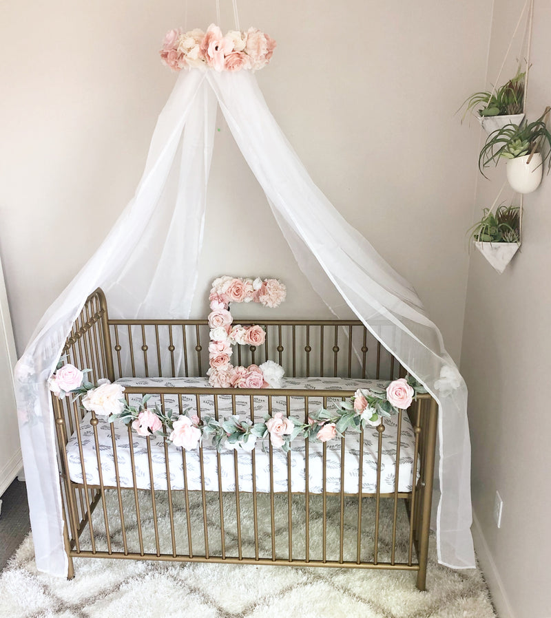 floral nursery decor princess nursery