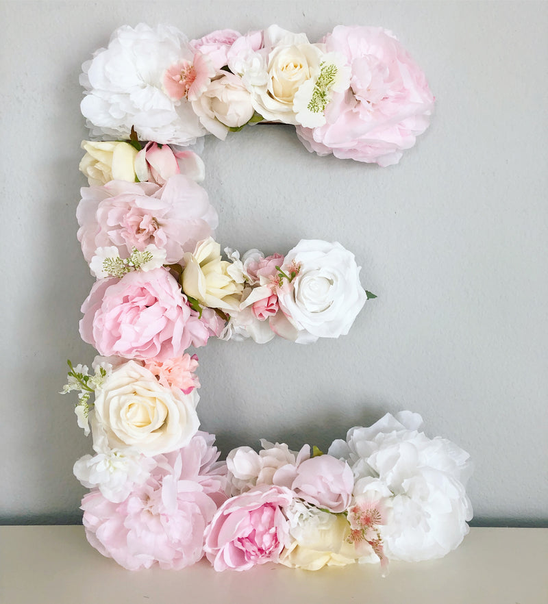 blush baby shower theme blush wall decor blush nursery baby name sign bridal shower decor baby shower decor floral baby shower