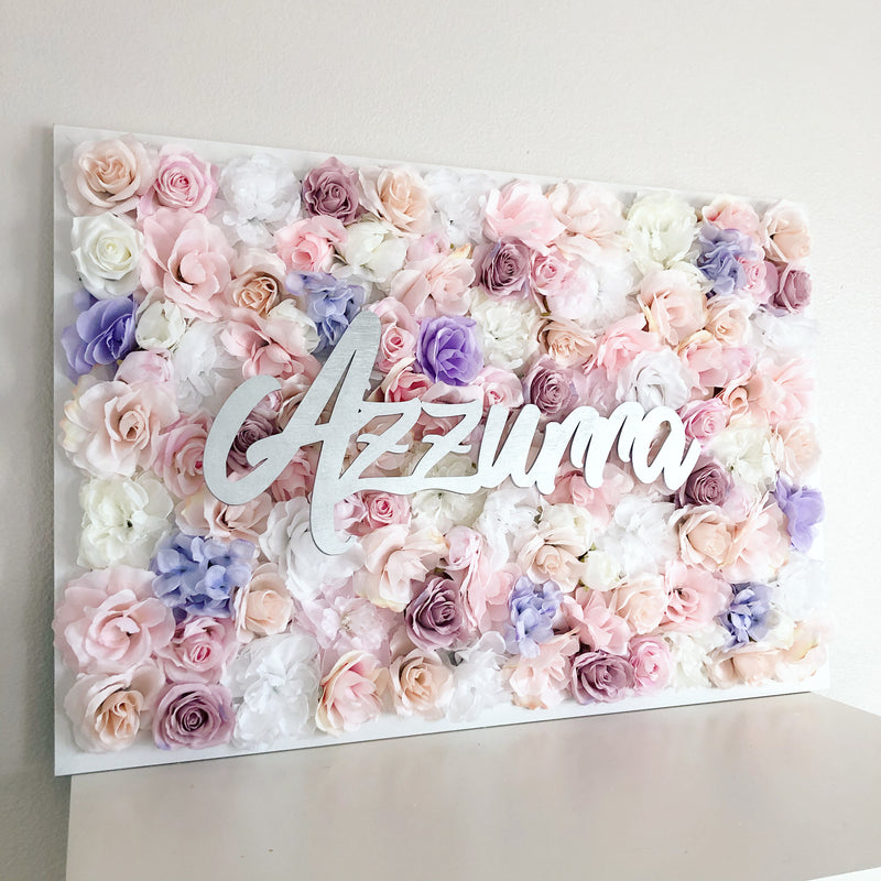 floral baby shower flower wall decor baby shower name sign baby shower girl