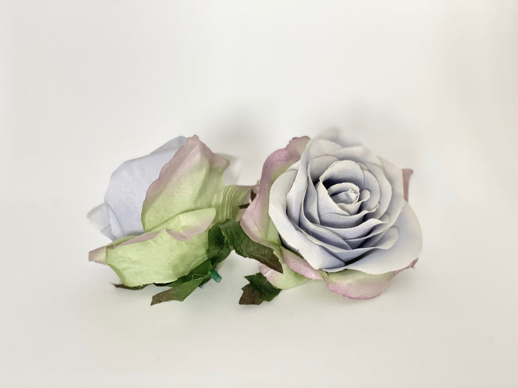 "3"" Light Dusty Blue Rose"