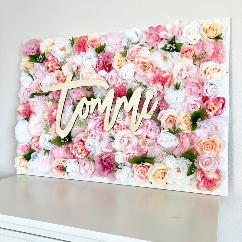 Girl Room Decor Hospital Room Name Sign Nursing Home Name Sign Patient Name Sign Flower Wall Hospital Decor Floral Gift