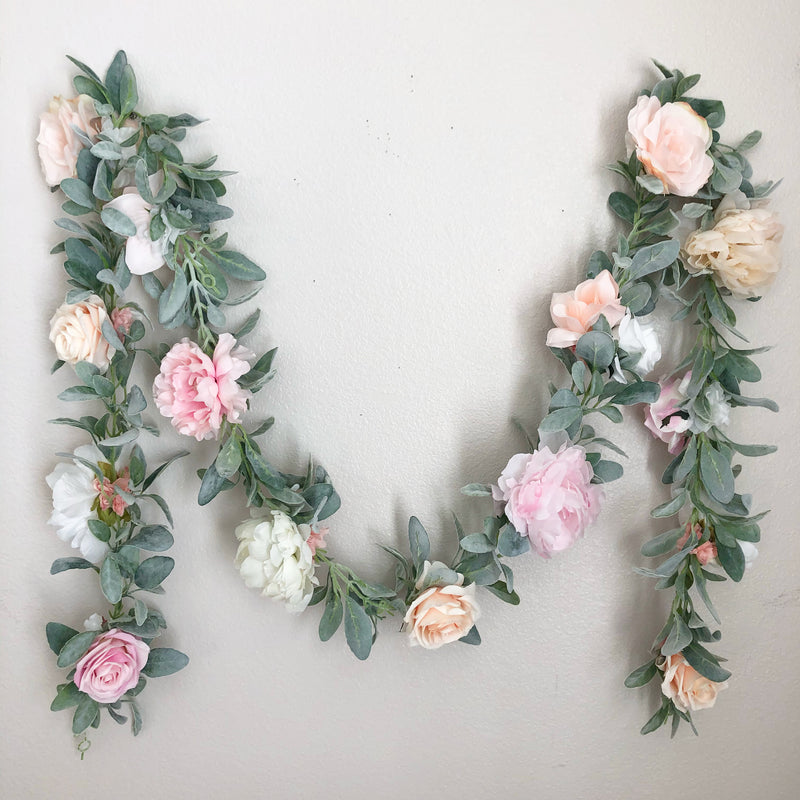 girl nursery decor girl floral nursery floral baby shower floral bridal shower floral wall decor floral decor garland decor