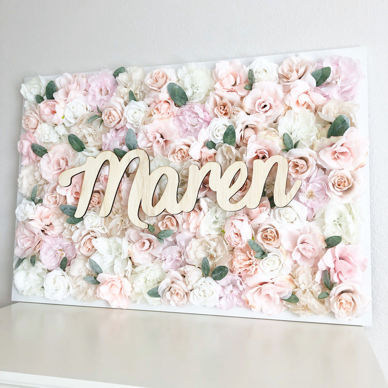 boho baby shower flower wall nursery decor girl nursery decor name sign
