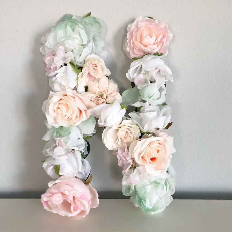 blush pink nursery decor blush pink and sage green decor floral letter